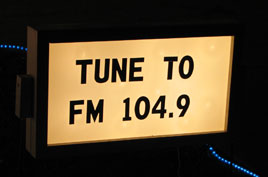 FM Radio Sign